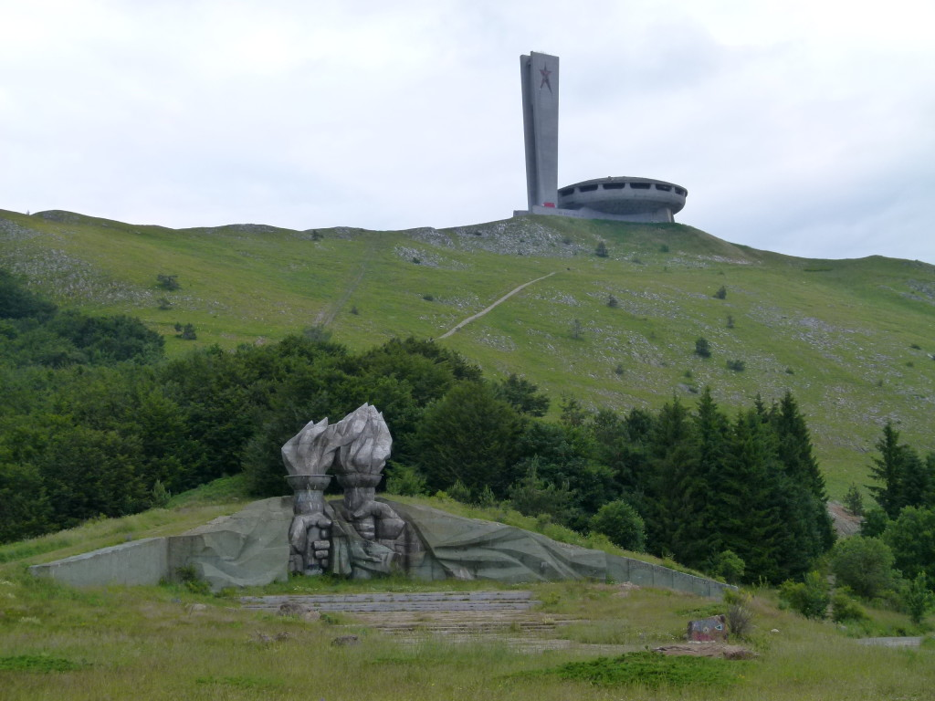 The monuments at Buzludzha. These were taken before the storm came through. When viability was reduced to only a few meters in front.