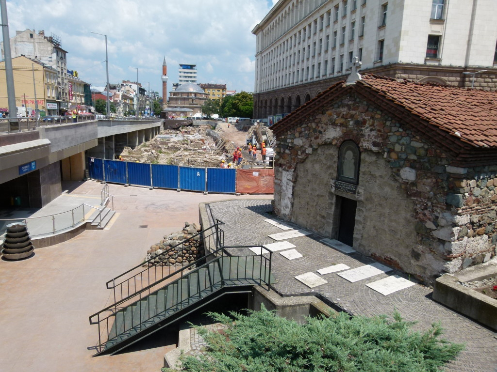 An Archeological dig on the edge of the old town.