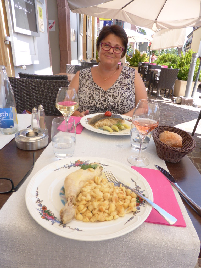 Birthday lunch in Eguisheim. Good food and wine in pleasant surroundings.