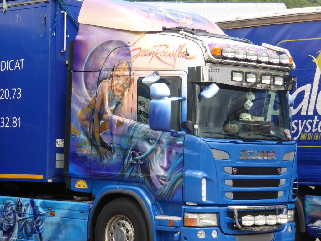 These trucks caught our eye. Fantastic art work