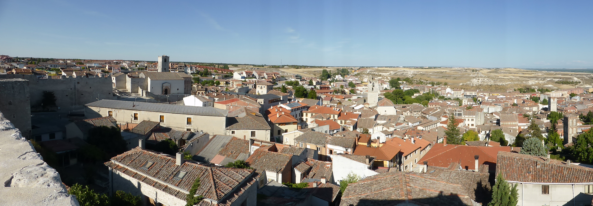 View of Cuellar from the Castle wall walk