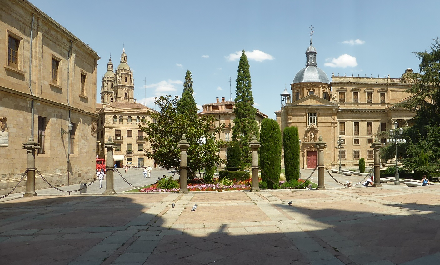 view of Salamanca from the door of the Cathedra;