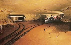 The train that takes you into the cave. Photo courtesy of Google Images.
