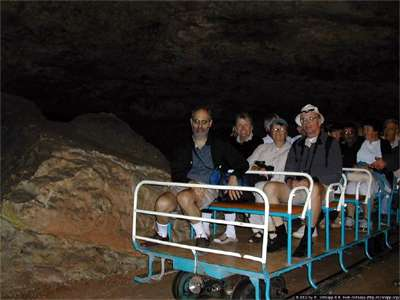 Train that you ride in during your visit to the cave. Photo courtesy of Google Images.
