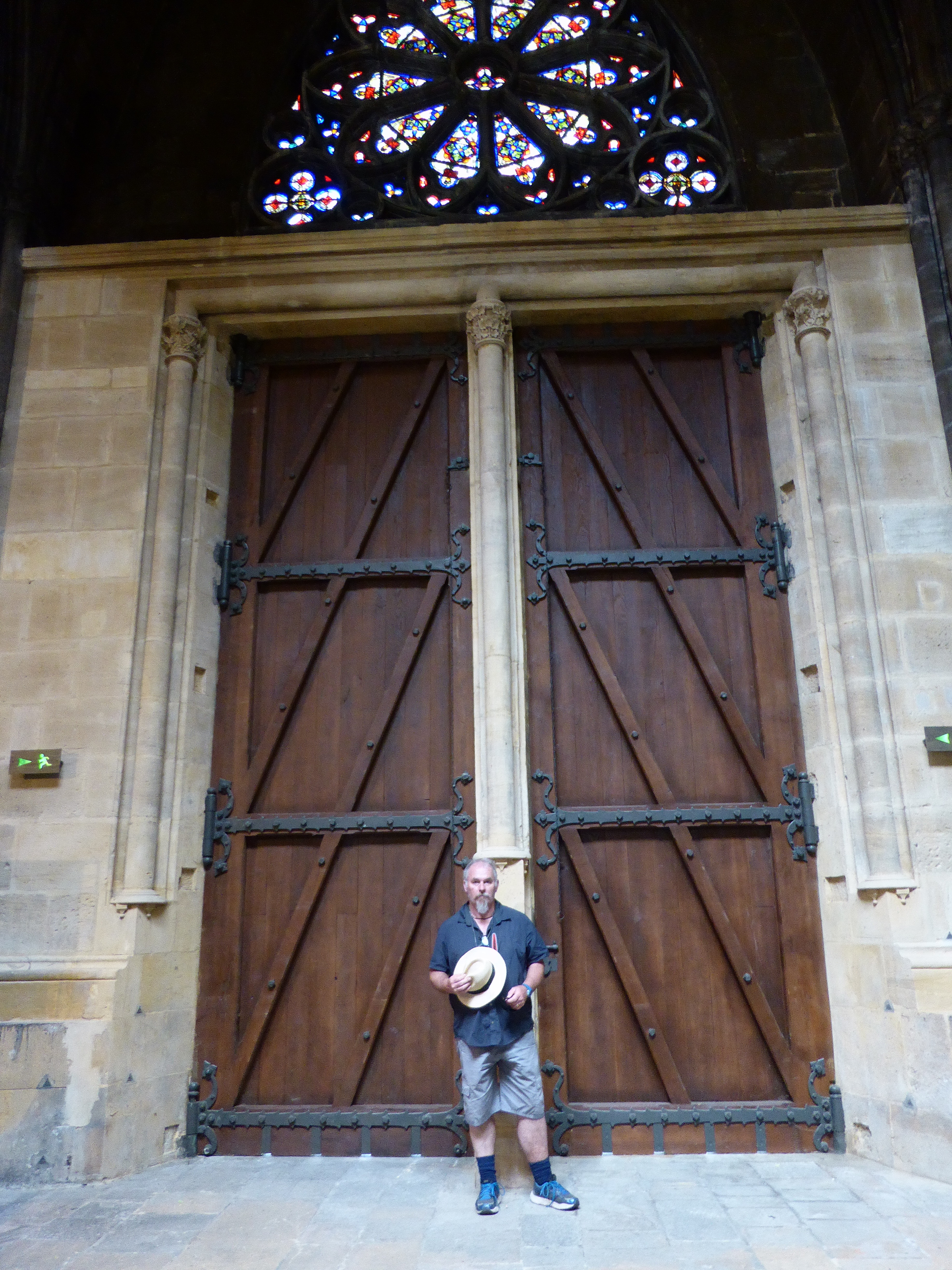 This gives you an idea how big the place was. This is Ewout standing next to the side door. [Robyn, a big enough door for you?]