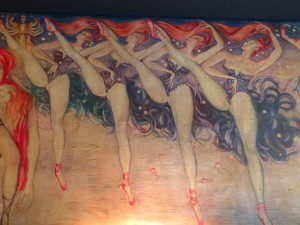 Painting inside the foyer of the Moulin Rouge